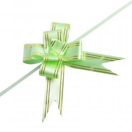 Zielone wstążki ściągane w kokardy do pakowania dekoracji 10 szt