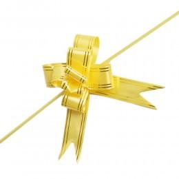 Żółte wstążki ściągane w kokardy do pakowania dekoracji 10 szt.