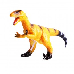 Dinozaur duży gumowy malowany figurka dino Welociraptor