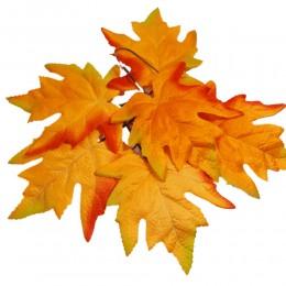 Jesienne sztuczne liście do dekoracji / sztuczny liść pomarańcz 6szt
