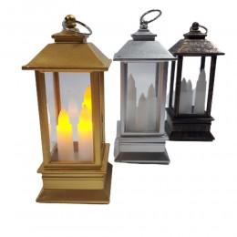 Lampion ze świecą LED mini latarenka 13cm dekoracja ozdoba
