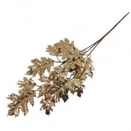 Gałązka ozdobna złote liście 70 cm / liście dekoracyjne / złoty liść