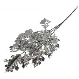 Gałązka ozdobna srebrne liście 70 cm / liście dekoracyjne