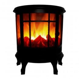 Lampion kominek LED KOZA latarnia lampa imitacja ognia 35x30cm