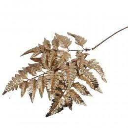 Sztuczna gałązka złoty LIŚĆ PAPROCI 70 cm / sztuczna paproć