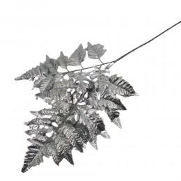Sztuczna gałązka srebrny LIŚĆ PAPROCI 70 cm / sztuczna paproć