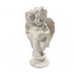 Figurka aniołka anioł ze skrzydłami i winogronami 15,5 cm prezent
