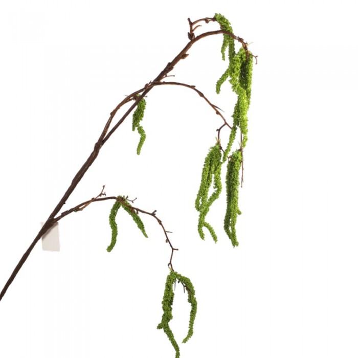 Duża sztuczna gałązka LESZCZYNY brzozy kwitnącej 93 cm