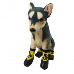 Ciepłe skarpety buty dla psa na zime z gumową podeszwą ŻÓŁTE