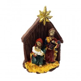 Mała szopka bożonarodzeniowa ŚWIĘTA RODZINA / stajenka betlejemska