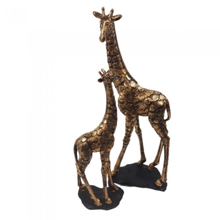 Figurka dekoracyjna żyrafy 35 cm / rzeźba żyrafa złota glamour