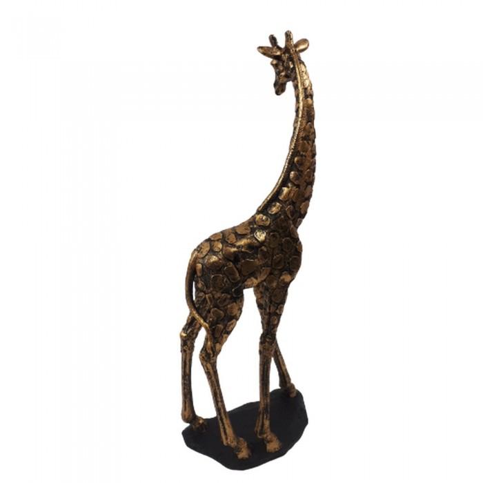 Duża figurka dekoracyjna żyrafy 46 cm / rzeźba żyrafa złota glamour