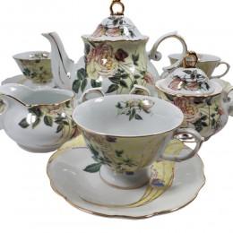 Serwis kawowo-herbaciany na 6 osób DZIKA RÓŻA 15 elem.