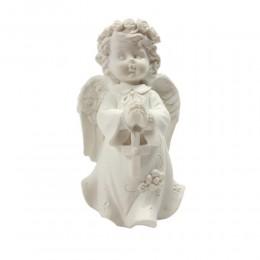 Anioł figurka dekoracyjna aniołek dziewczynka z różańcem prezent
