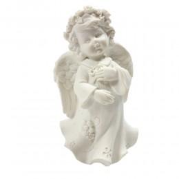 Anioł figurka dekoracyjna aniołek dziewczynka / figurka komunijna