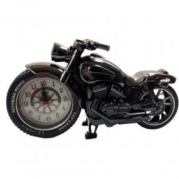 Dekoracja zegar stojący ozdobny MOTOR motocykl z budzikiem