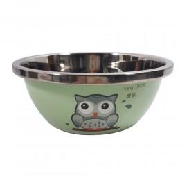 Zielona metalowa miska dla psa SOWA pojemność 3 litra