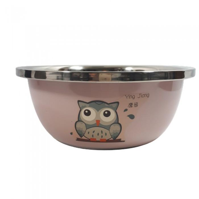 Różowa metalowa miska dla dużego psa SOWA pojemność 5 litrów