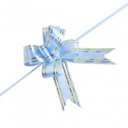 Błękitne wstążki ściągane w kokardy wstążka do pakowania dekoracji