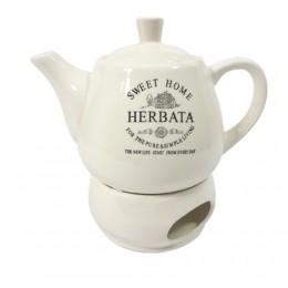 Dzbanek czajnik z podgrzewaczem do parzenia herbaty SWEET HOME