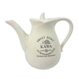 Ceramiczny dzbanek imbryk na kawę SWEET HOME ecru