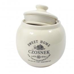 Ceramiczny pojemnik na czosnek SWEET HOME kula