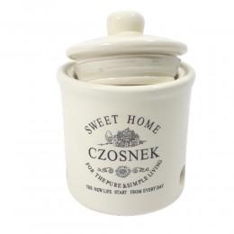Ceramiczny pojemnik na czosnek z otworami SWEET HOME