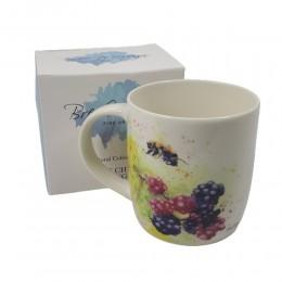 Kubek ceramiczny na prezent TRZMIEL jeżyna 300 ml / wiejski kubek