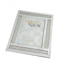Ozdobna ramka na zdjęcie do postawienia 13x18 cm lustrzana glamour