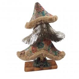 Złota choinka ozdoba zimowa dekoracja świąteczna 40 cm