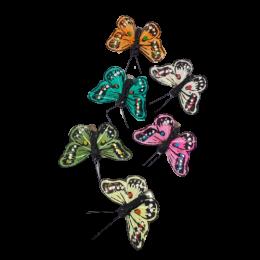 Ozdobne motylki motyl z klipsem 4,5 cm / kolorowe motyle dekoracyjne