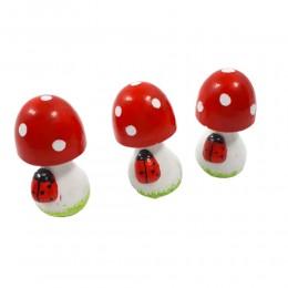 Ozdoba grzyby grzybki muchomorki stojące 3 sztuki dekoracja jesienna