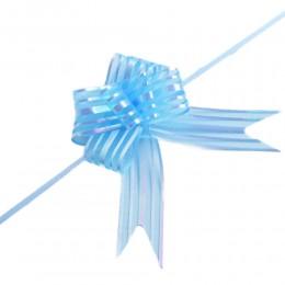 Błękitne wstążki ściągane kokardy 10szt. / wstążki ściągane w kokardy