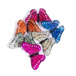 Dekoracyjny motyl motyle na klipsie / motylki ozdoby florystyczne