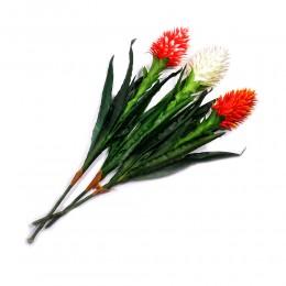 Duży kwiat sztuczny Guzmania języczkowata