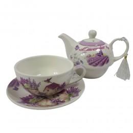 Komplet czajniczek z filiżanką zestaw do parzenia herbaty na prezent
