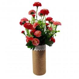 Różowe sztuczne stokrotki bukiet / sztuczne kwiaty stokrotki