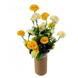 Żółte sztuczne stokrotki bukiet / sztuczne kwiaty stokrotki
