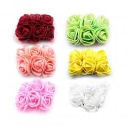 róże z pianki / Różyczki piankowe z tiulem 6 szt.