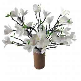 Sztuczna gałązka magnolii biała 42cm/ sztuczne kwiaty magnolia
