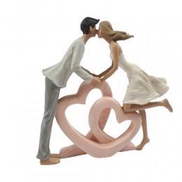 Rzeźba figurka zakochana para serca prezent Walentynki ślub wesele