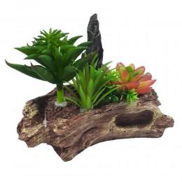 Sztuczne rośliny na skale dekoracja do akwarium terrarium