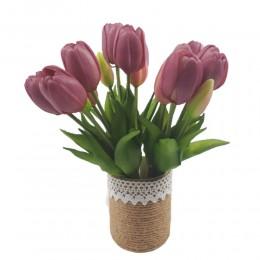 Mały bukiet sztucznych tulipanów fioletowych / gumowe tulipany
