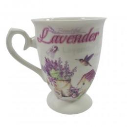Kubek ceramiczny na prezent w kartoniku LAWENDA poj. 300ml