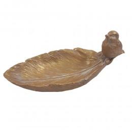 Poidło dla ptaków / złote poidełko dla ptaków do ogrodu na taras