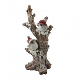 Ozdoba zimowe ptaszki na gałęzi / figurka ptaszek dekoracja zimowa