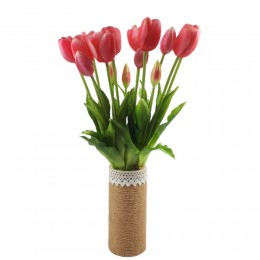 Sztuczne tulipany różowe bukiet / tulipany gumowe w bukiecie 5szt