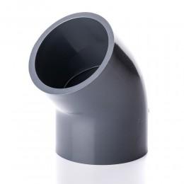 Kolano PVC-U 45º PN16