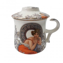 Kubek z zaparzaczem sitkiem do herbaty QUEEN ISABELL DAMA