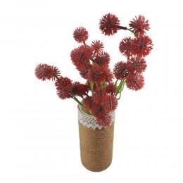 Dziki czerwony sztuczny czosnek w bukiecie / czosnek kwiat sztuczny